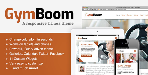 gymboom premium wordpress template theme