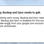 Google (Drive) Backup and Sync Issue